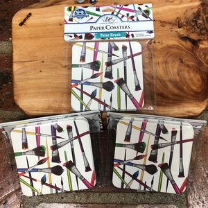 3 Packs - Paint Brushes Paper Coasters